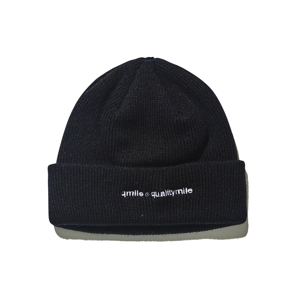 721 EMBROIDERY BEANIE 	BLACK