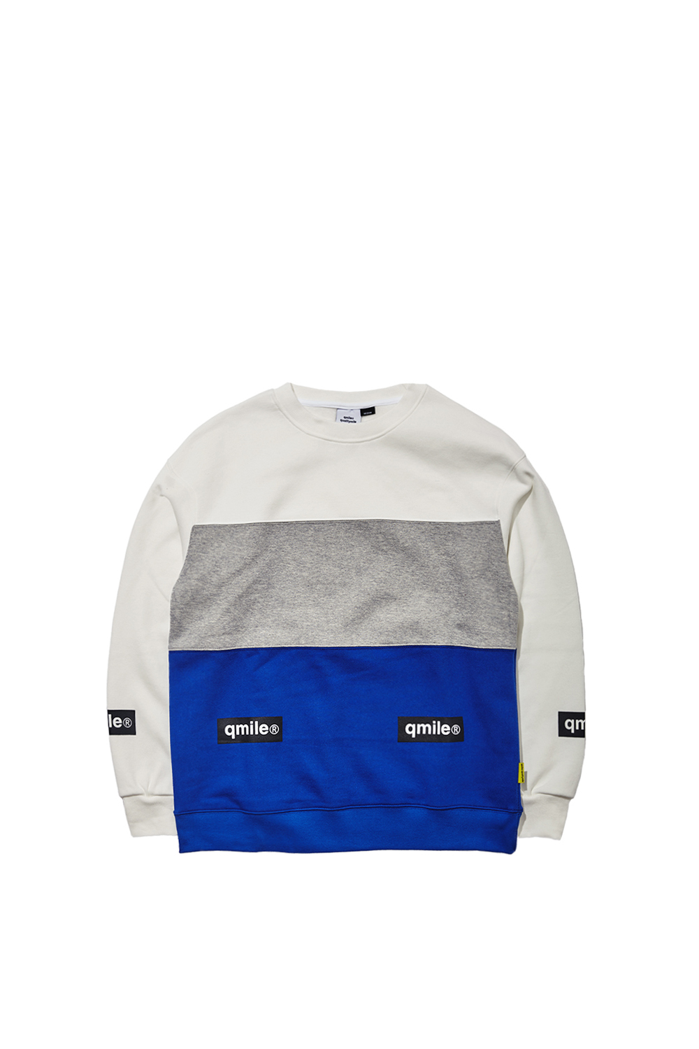 TRIPPLE COLORING CREWNECK | BLUE/GREY/WHITE